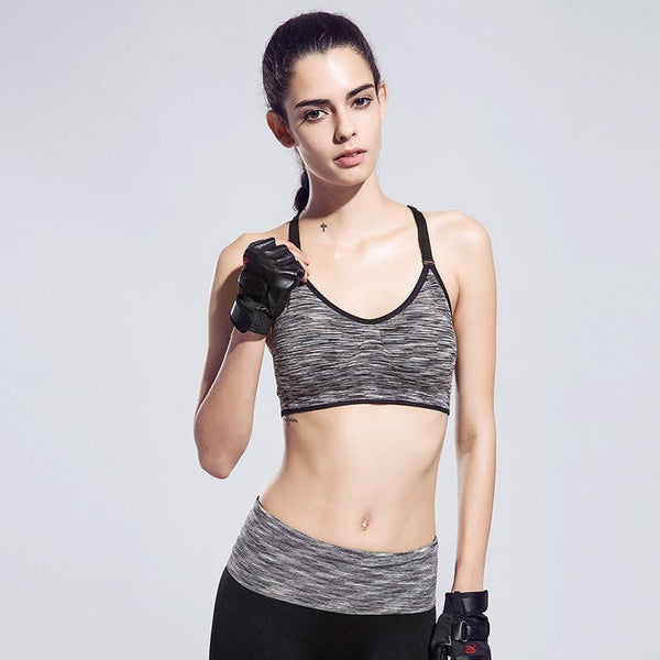 Quick-Drying Cushioned Gym Bra Without Seams - FitShopPro