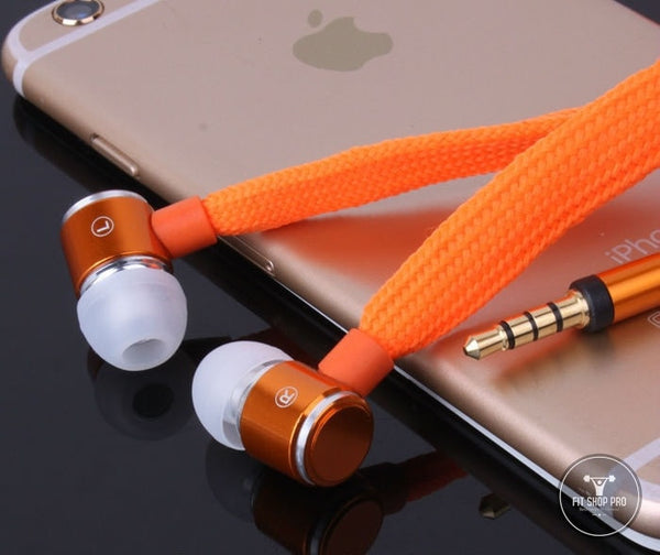 Shoelace Stereo Earphone With Microphone - FitShopPro