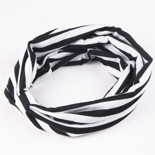 Cotton Elastic Sports Wide Headband - FitShopPro