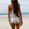 Sexy Lace Cover Up Mini Beach Dress