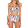 Kelly - Retro Floral High Waist Bikini