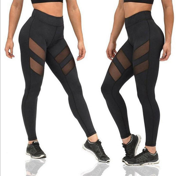 Mesh Transparent Push Up Skinny Fitness Leggings