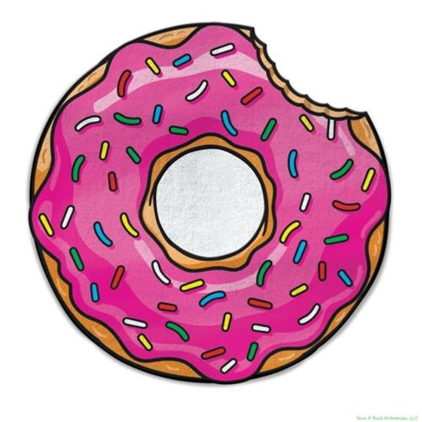 Donut with Sprinkles Shape Round Beach Blanket Pareo