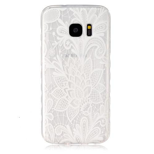 Samsung  Case S7 Flower White Clear Soft Back Cover