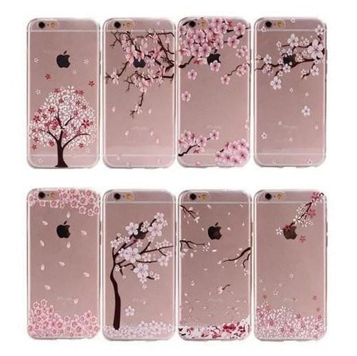 FREE * iPhone Case* 6 6S Clear Transparent Flower Pattern Soft TPU - FitShopPro.com - 1