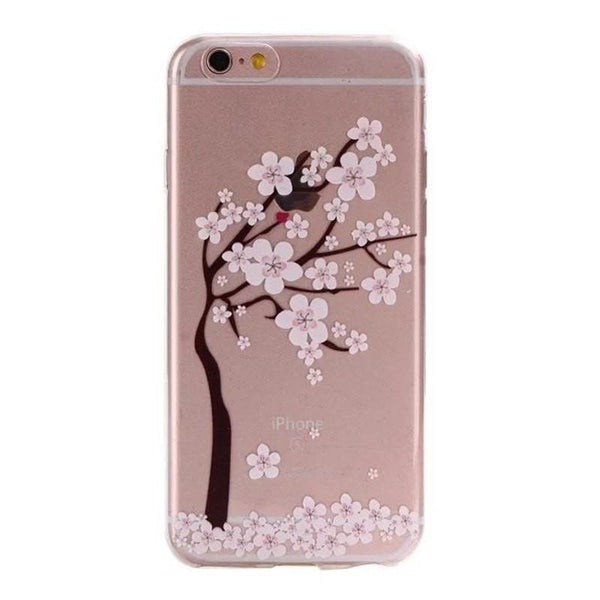FREE * iPhone Case* 6 6S Clear Transparent Flower Pattern Soft TPU - FitShopPro.com - 2