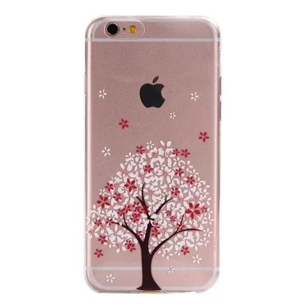 FREE * iPhone Case* 6 6S Clear Transparent Flower Pattern Soft TPU - FitShopPro.com - 5