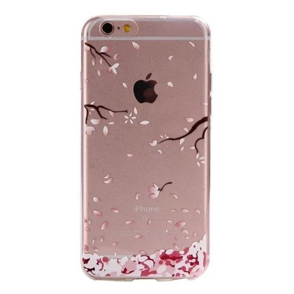 FREE * iPhone Case* 6 6S Clear Transparent Flower Pattern Soft TPU - FitShopPro.com - 8