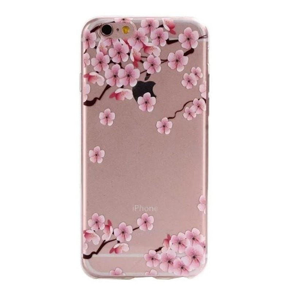 FREE * iPhone Case* 6 6S Clear Transparent Flower Pattern Soft TPU - FitShopPro.com - 10