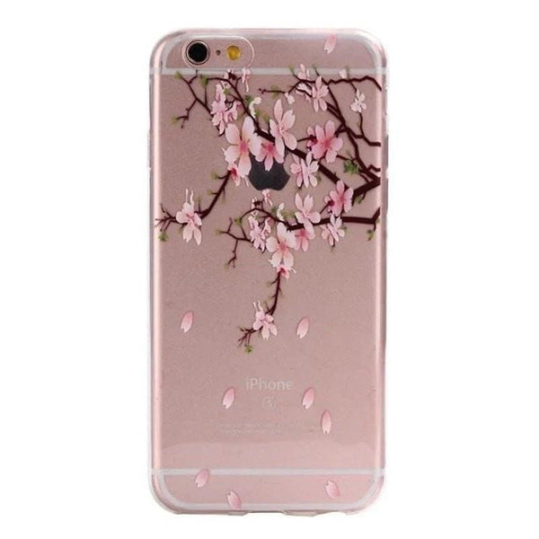 FREE * iPhone Case* 6 6S Clear Transparent Flower Pattern Soft TPU - FitShopPro.com - 9