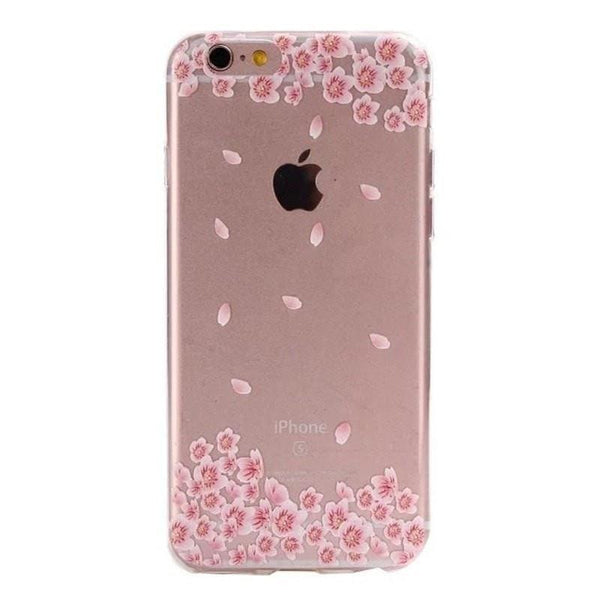 FREE * iPhone Case* 6 6S Clear Transparent Flower Pattern Soft TPU - FitShopPro.com - 3