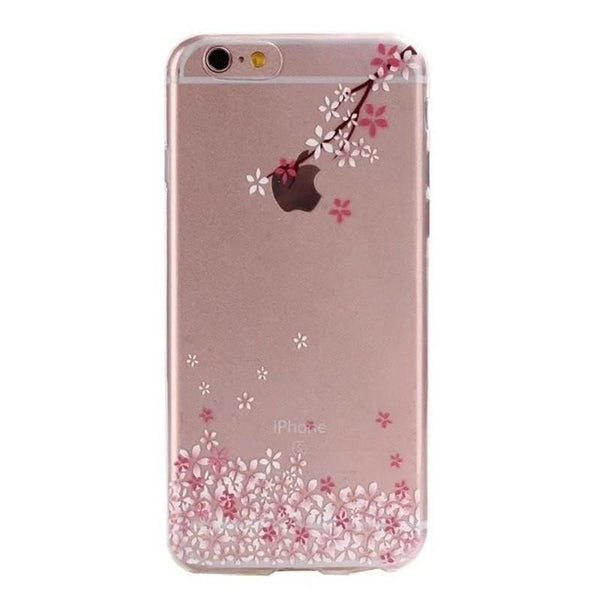 FREE * iPhone Case* 6 6S Clear Transparent Flower Pattern Soft TPU - FitShopPro.com - 4