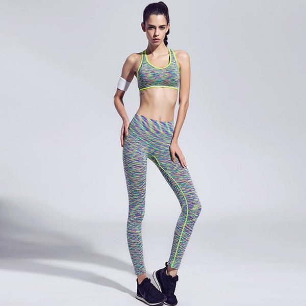 Women Slim Ultra-Soft Feel Fitness Outfit - Casual Sports Bra + Quick-Dry legging