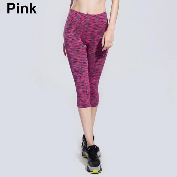 Mottled Running Capri