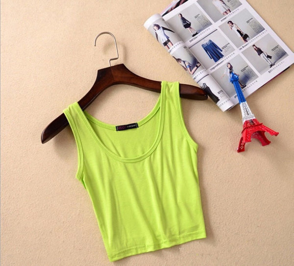 Women Summer Style Sleeveless Crop Top - FitShopPro