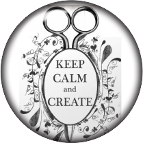 Keep Calm & Create Glass Snap Charm