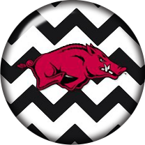 Razorback Chevron Glass Snap Charm