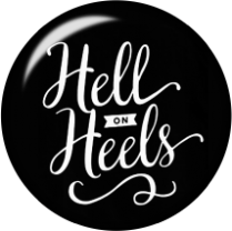 Hell on Heels Glass Snap Charm