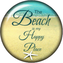 Happy Place Glass Snap Charm