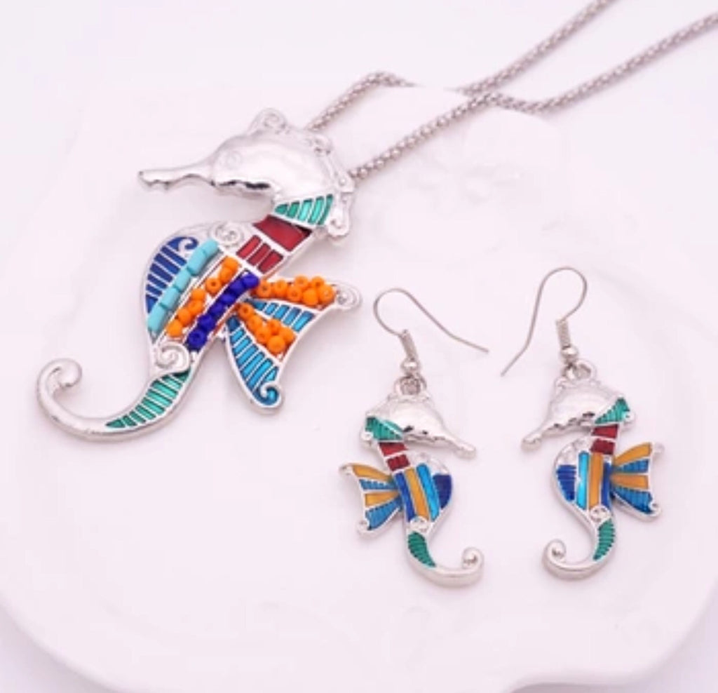 Sea Horse Beaded Set