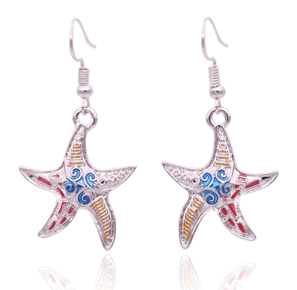 Starfish Colored Earrings
