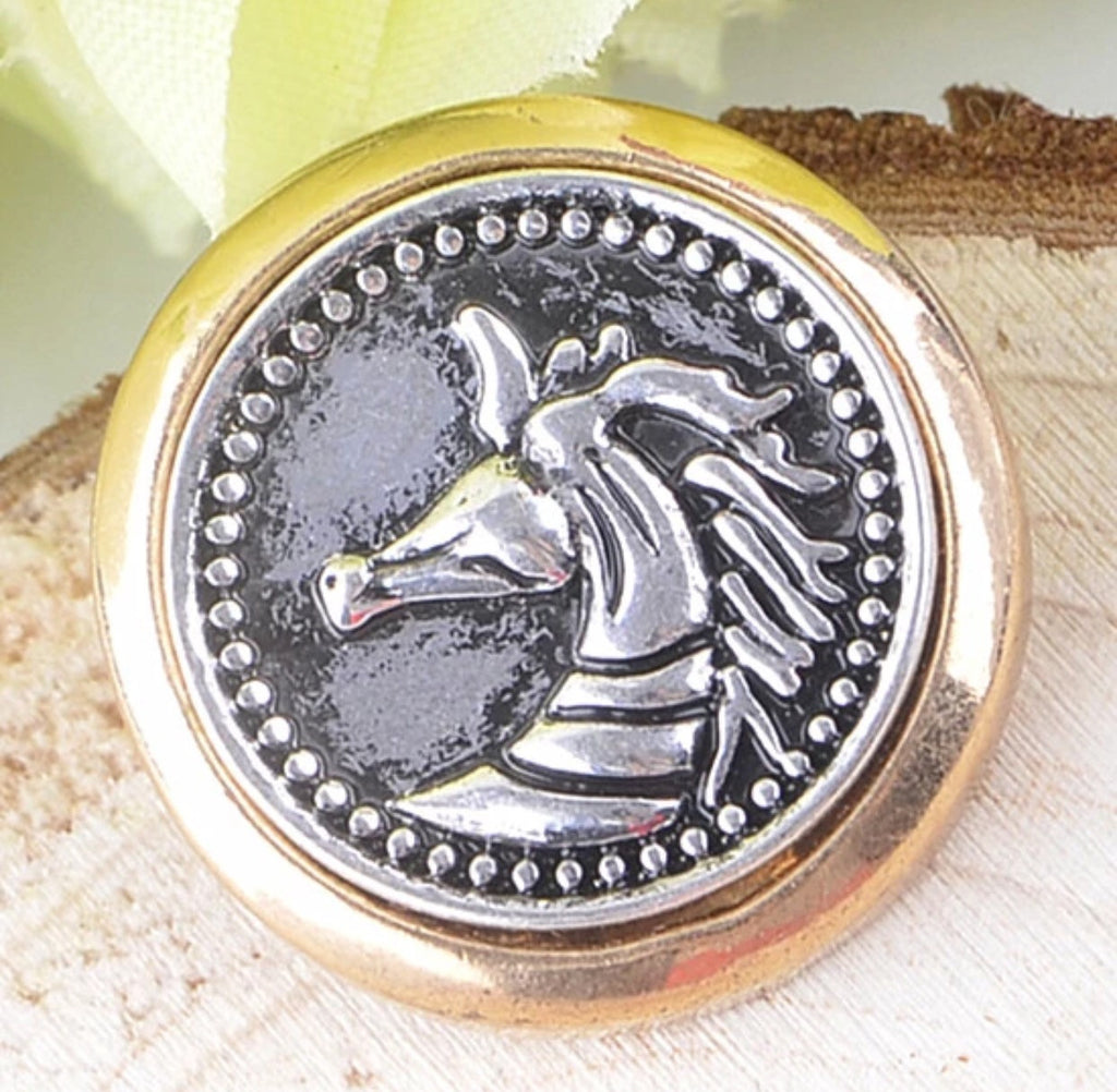 Two-Toned Horse Snap Charm