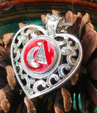 Sailboat Bling Red Snap Charm