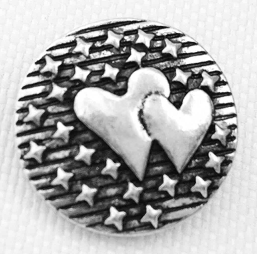 Cosmic Hearts Silver Snap Charm