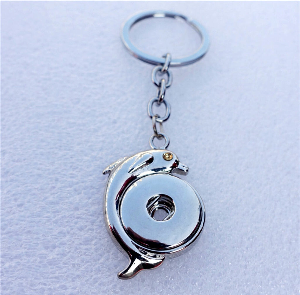 Dolphin Snap Charm Key Ring