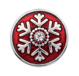 Winter Wonderland Silver Snowflake Snap Charm
