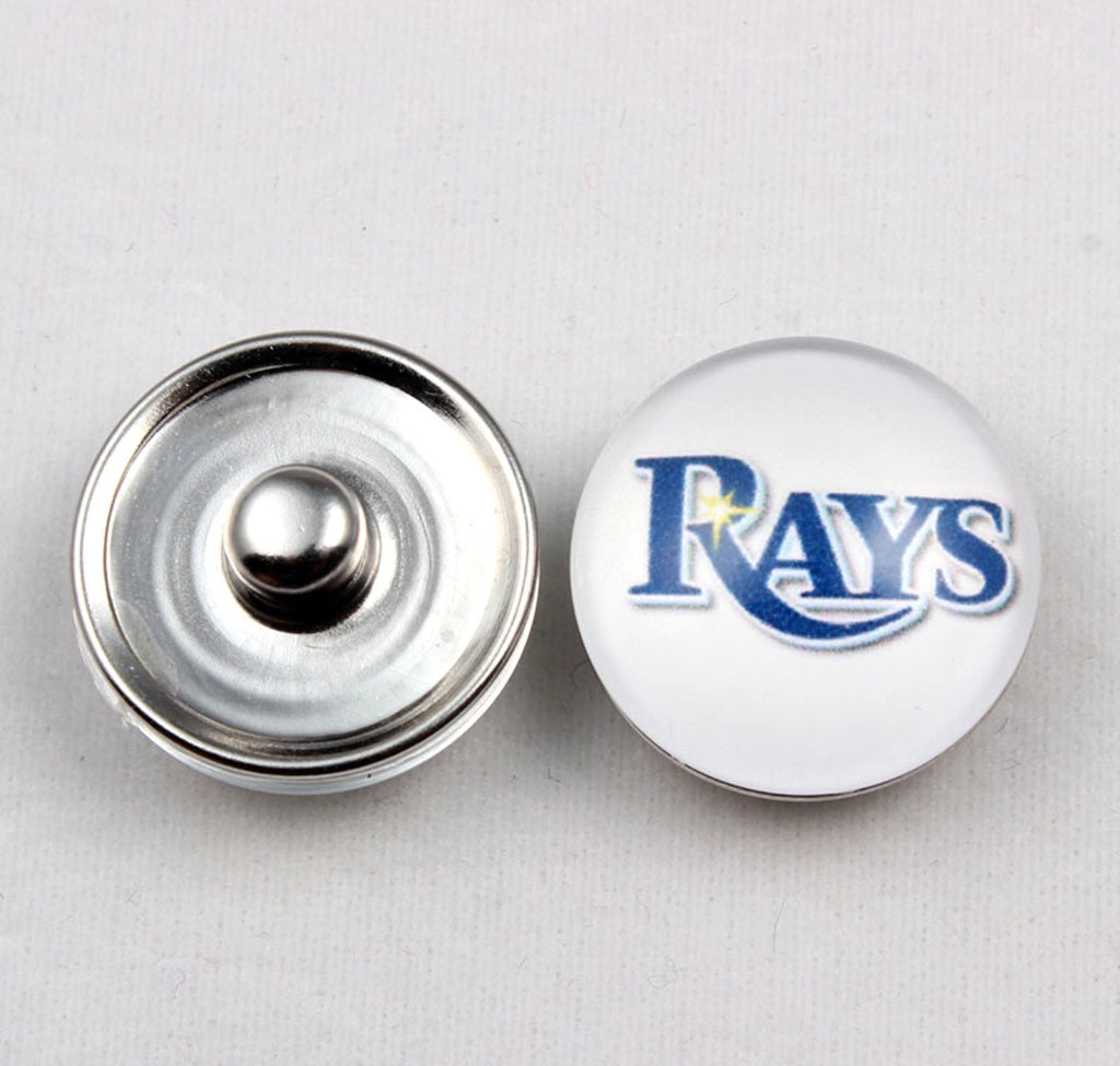 Tampa Bay Rays Glass Snap Charm