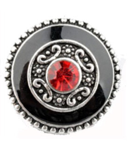 Black & Red Snap Charm