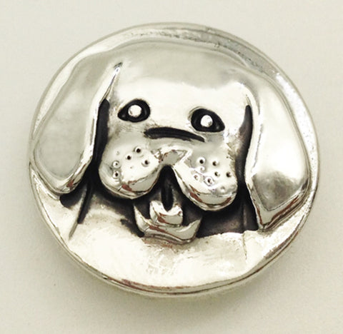 Puppy Face Snap Charm