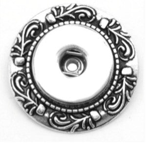 Etched Snap Charm Broach