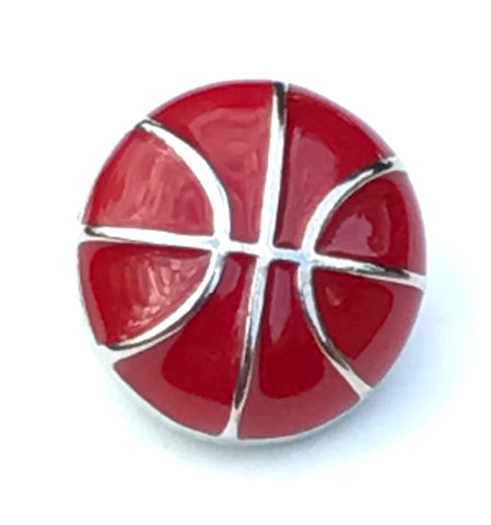 Basketball Metal Snap Charm