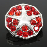 Superstar Red Bling Snap Charm