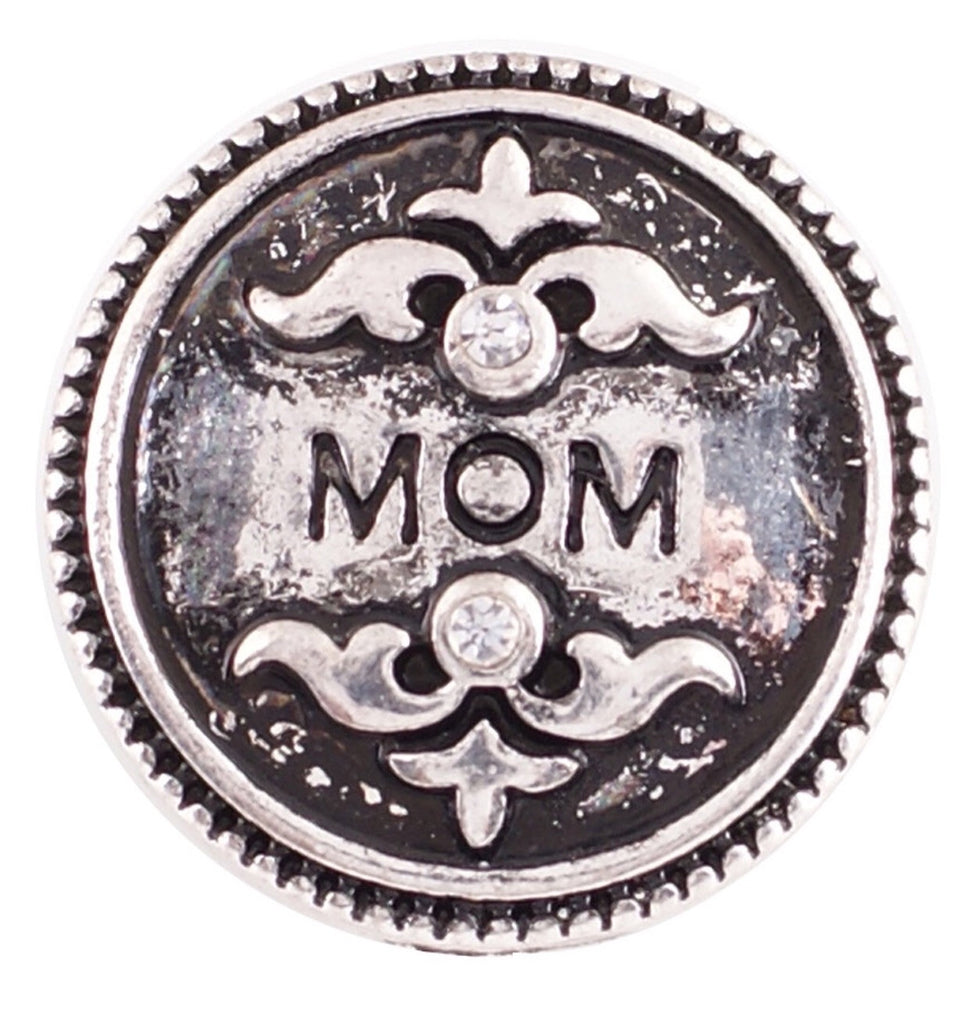 Mom Embossed Snap Charm