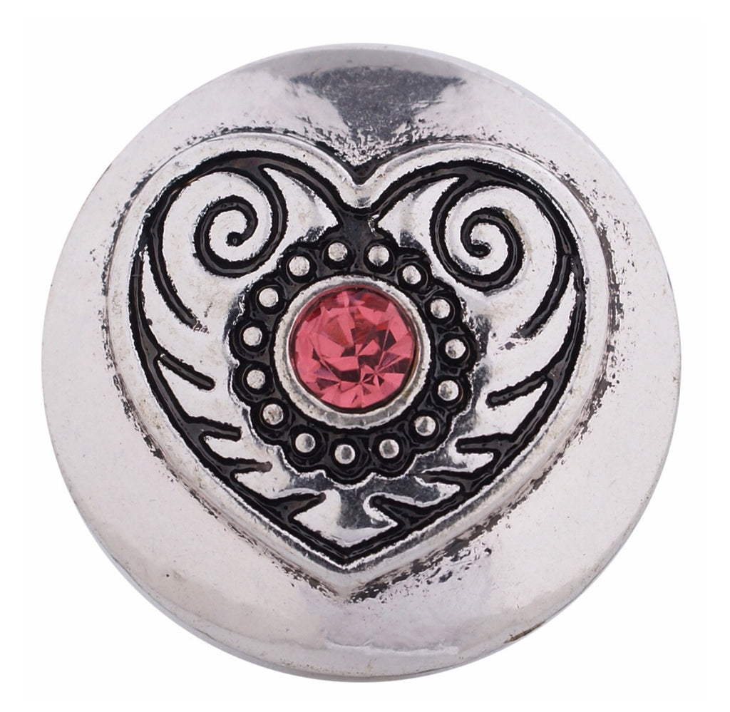 Heart Scroll Snap Charm