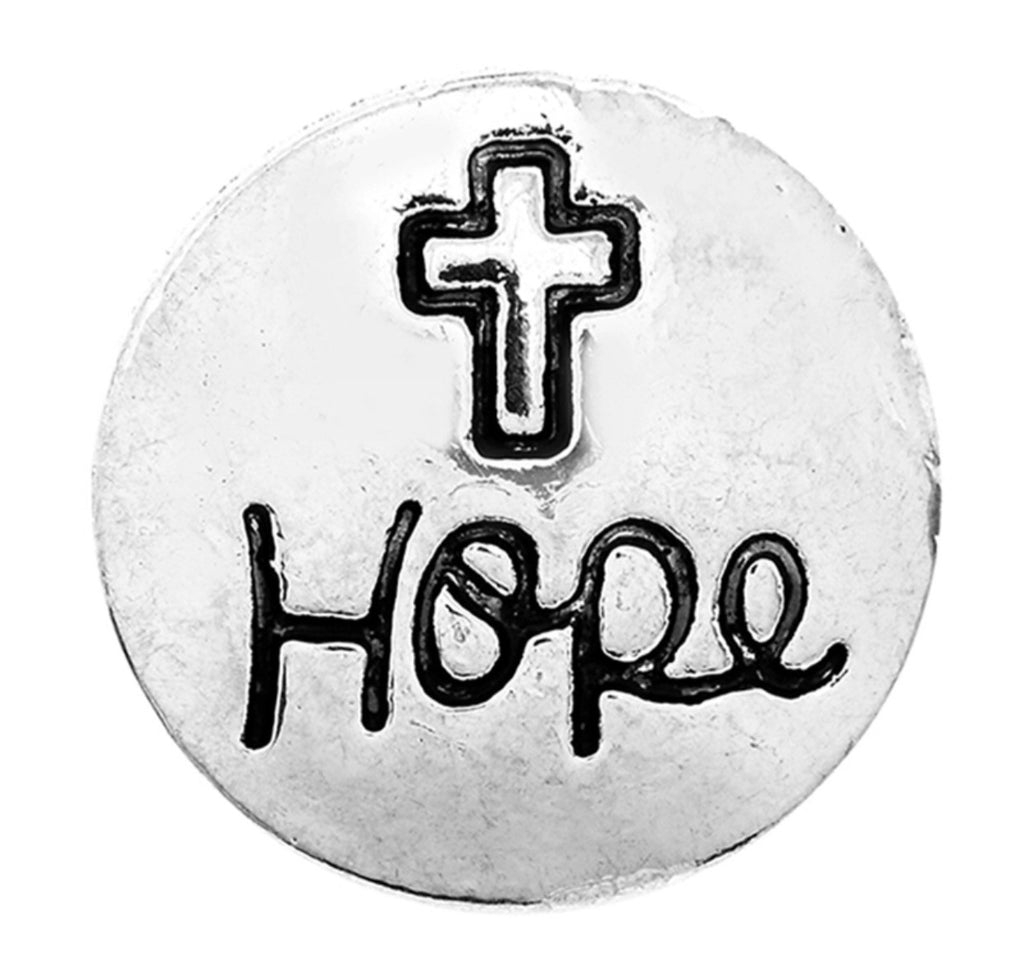 Hope Cross Snap Charm