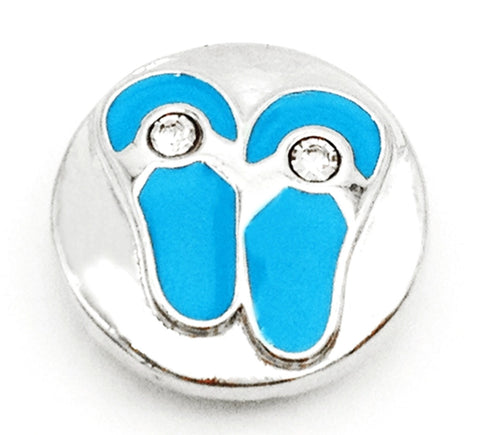 Flip Flops Blues Snap Charm