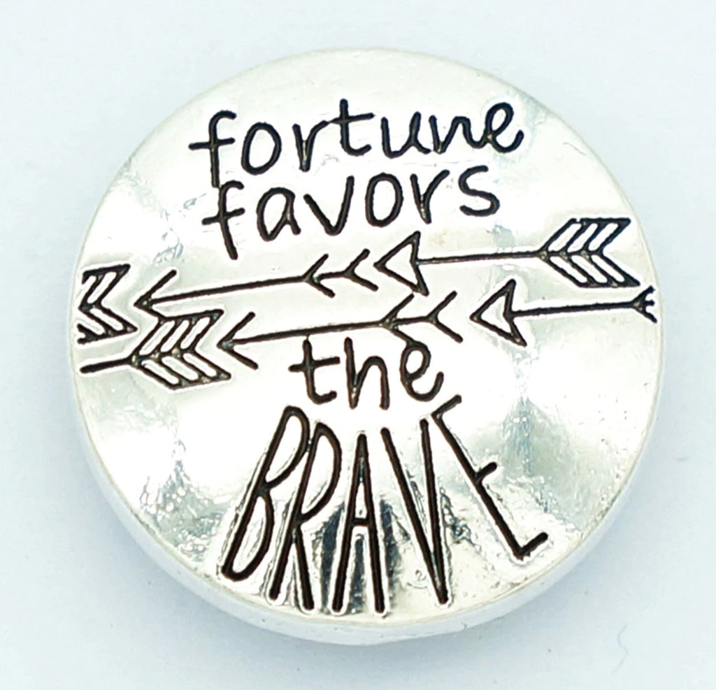 Fortune Favors the Brave Snap Charm