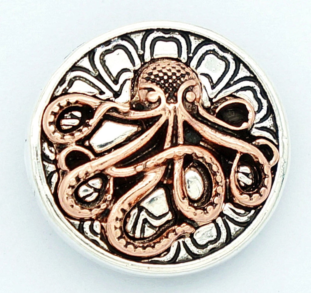 Octopus Copper Snap Charm