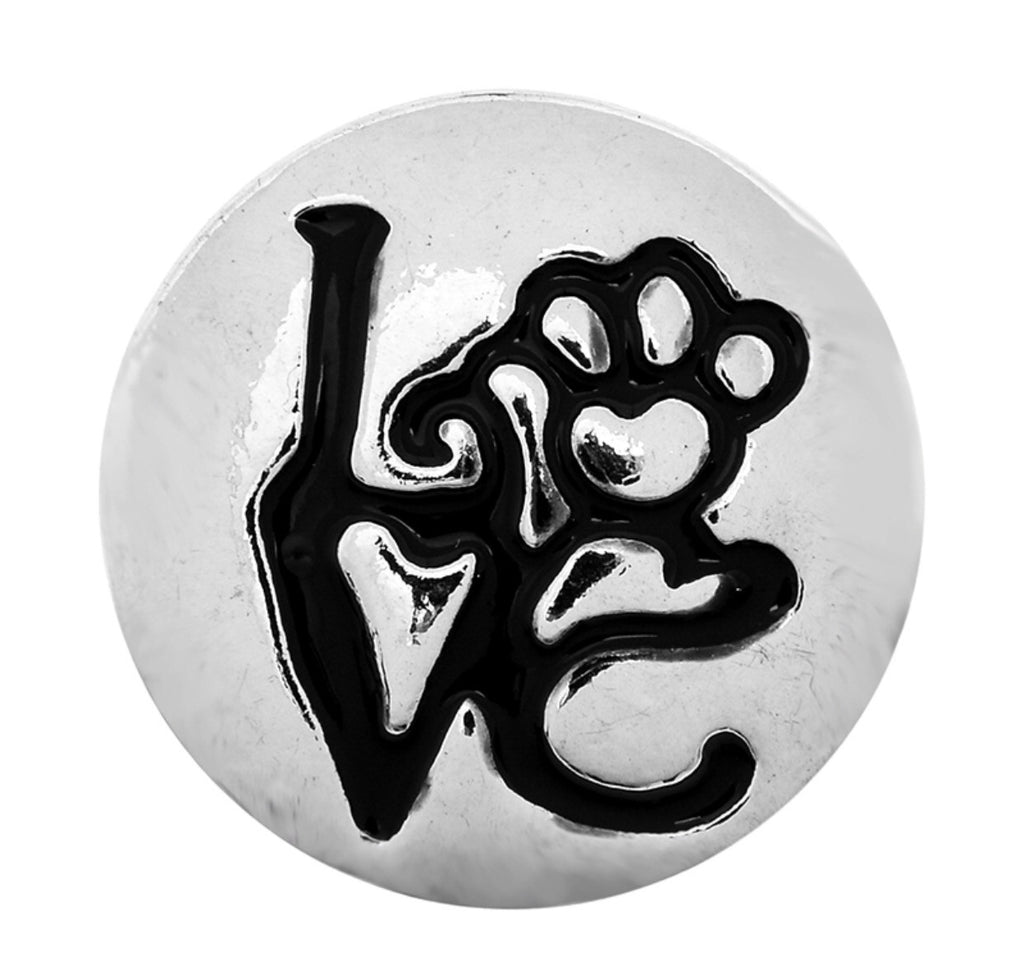 Paw Love Snap Charm