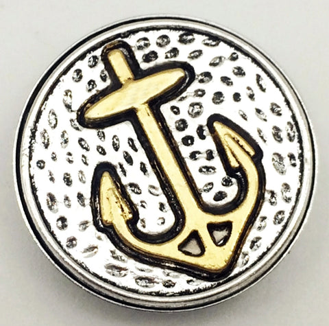 Anchor Gold Snap Charm