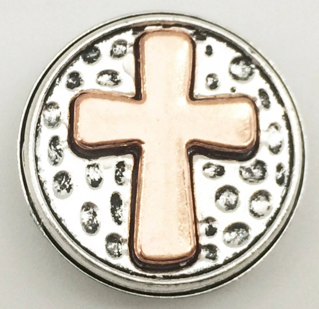 Cross Copper Snap Charm