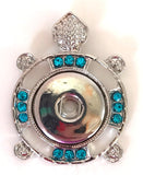 Turtle Tribal Turquoise Snap Charm Pendant
