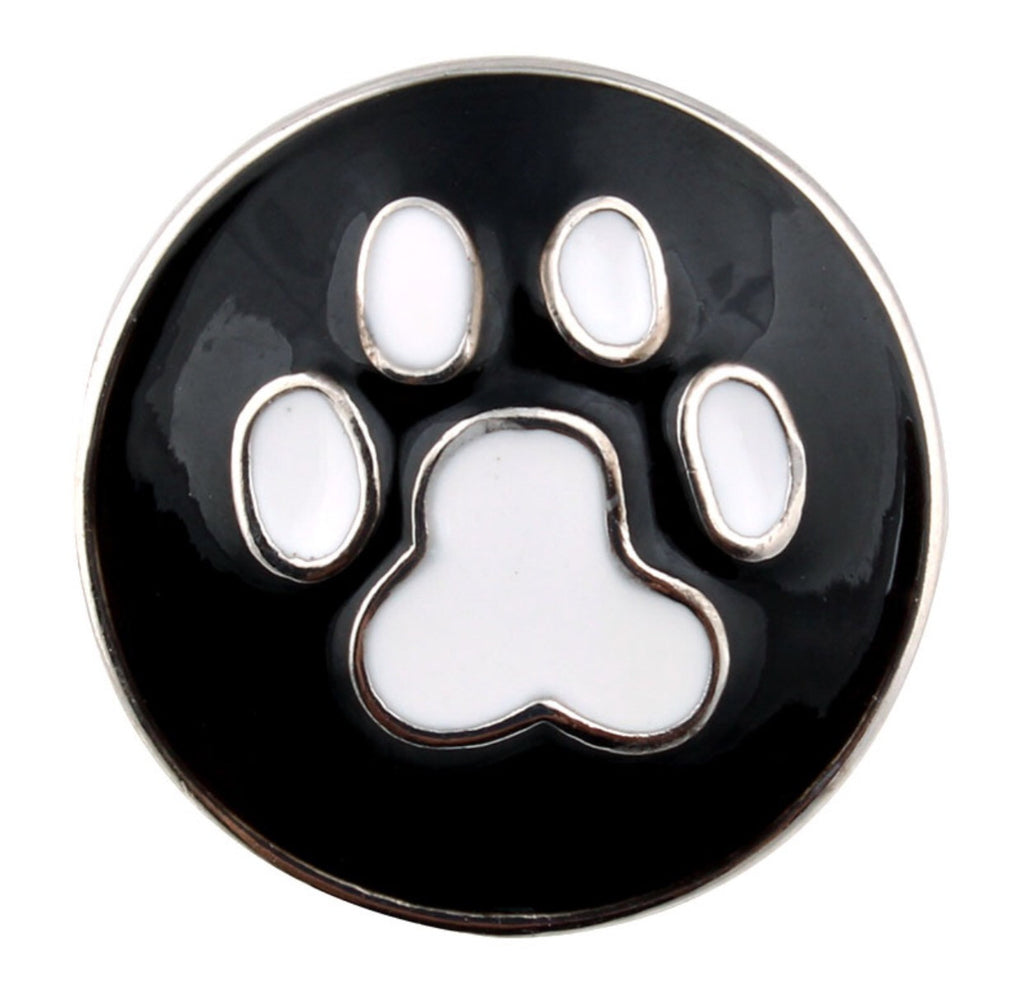 Puppy Love Paw Print Snap Charm