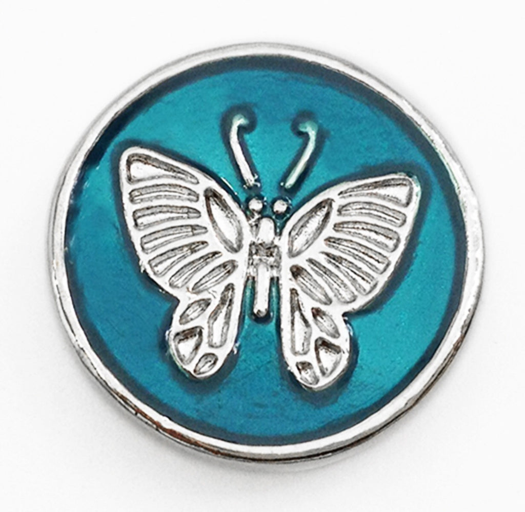 Turquoise Butterfly Snap Charm