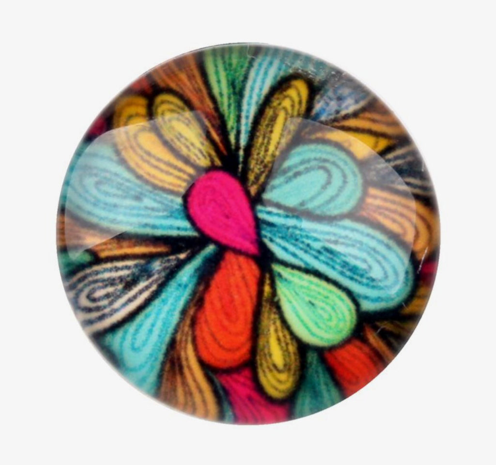 Quirky Multi-Colored Glass Snap Charm