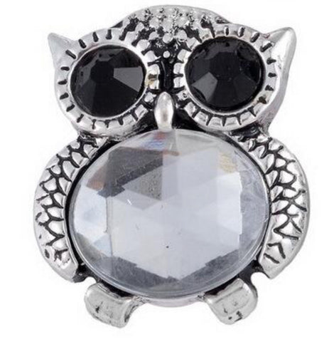 Jelly Belly Clear Owl Snap Charm